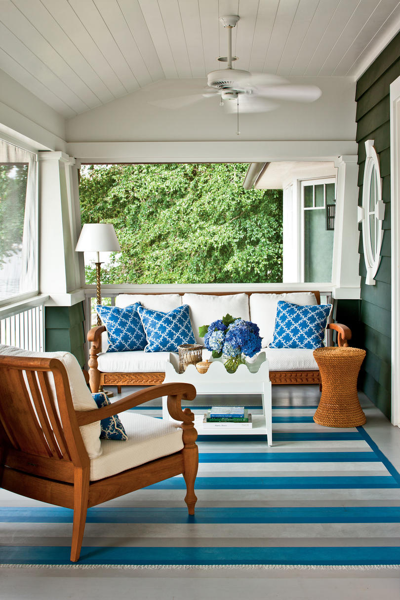 porch and patio design inspiration southern living classic nautical porch