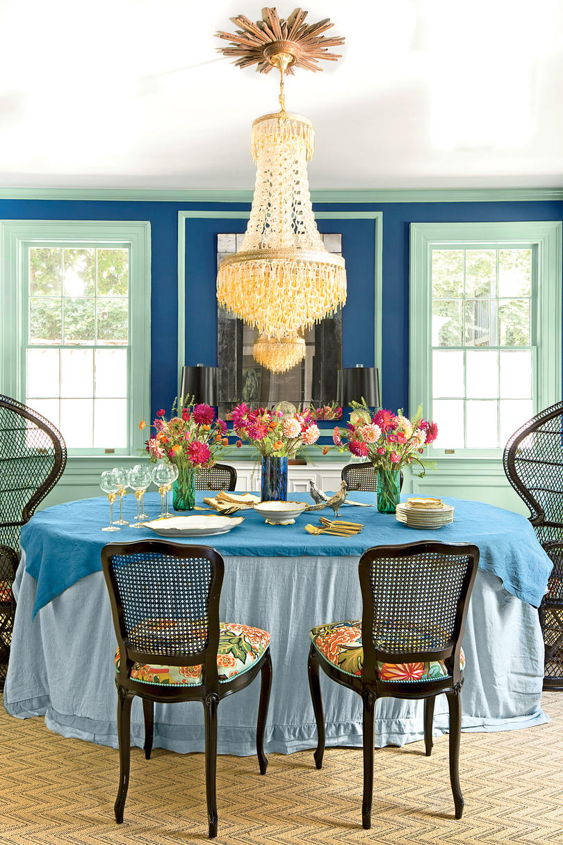After: Bold Bohemian Dining Room