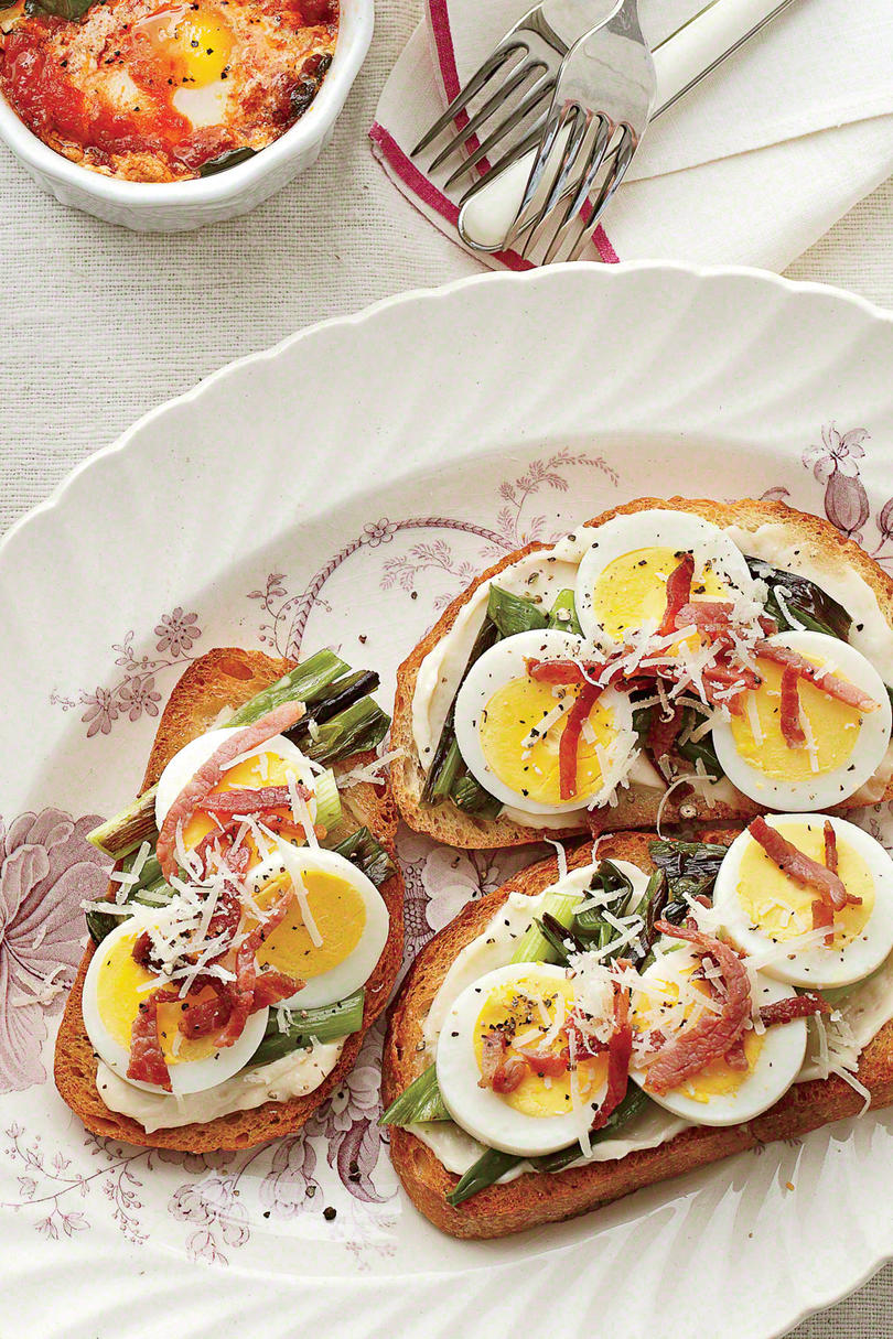 Country Ham And Egg Toasts