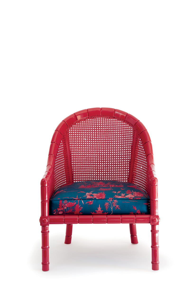 Red lacquered furniture Modern Chic Seat Southern Living Lacquer Up Painted Furniture That Shines