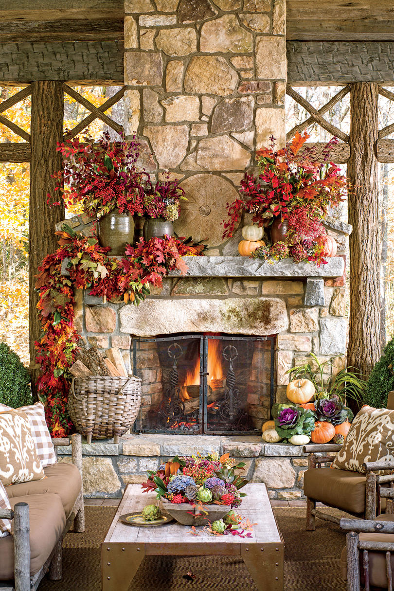 Fall Fireplaces and Mantels - Southern Living