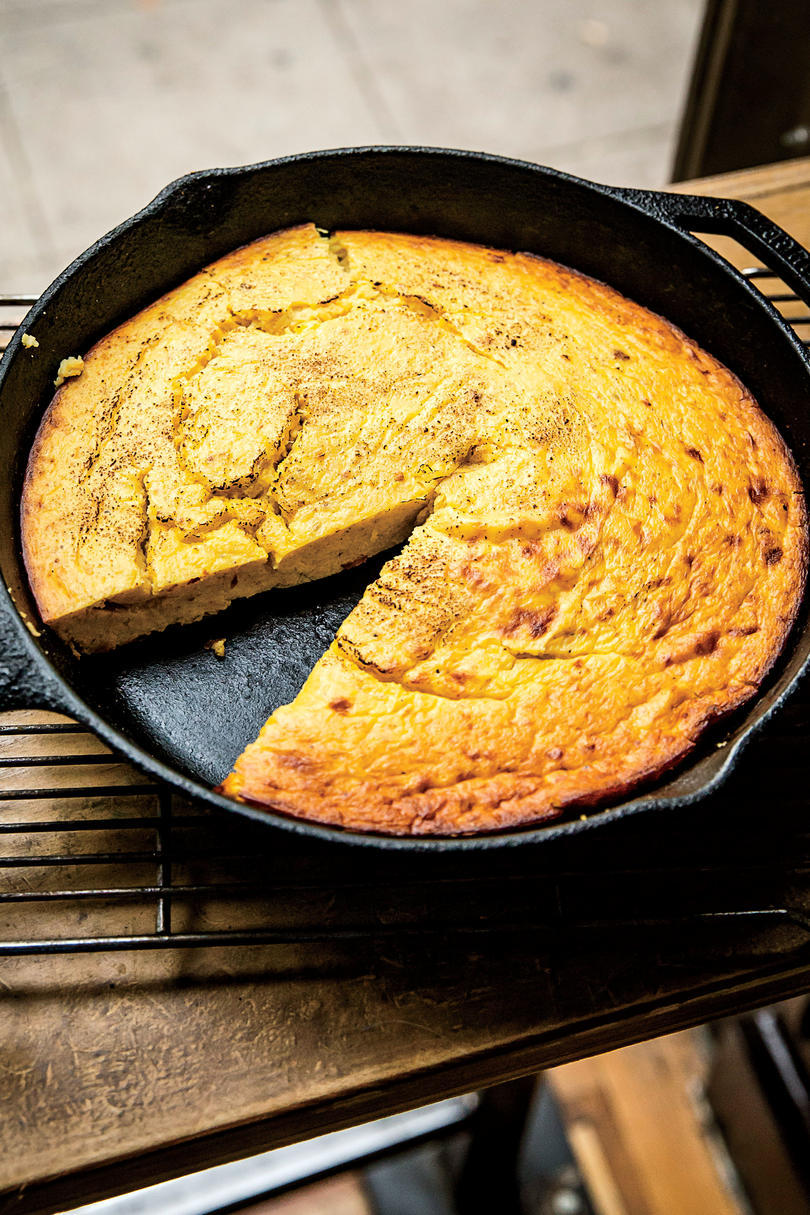 Ashley Christensen's Buttermilk Spoonbread with Spaghetti Squash