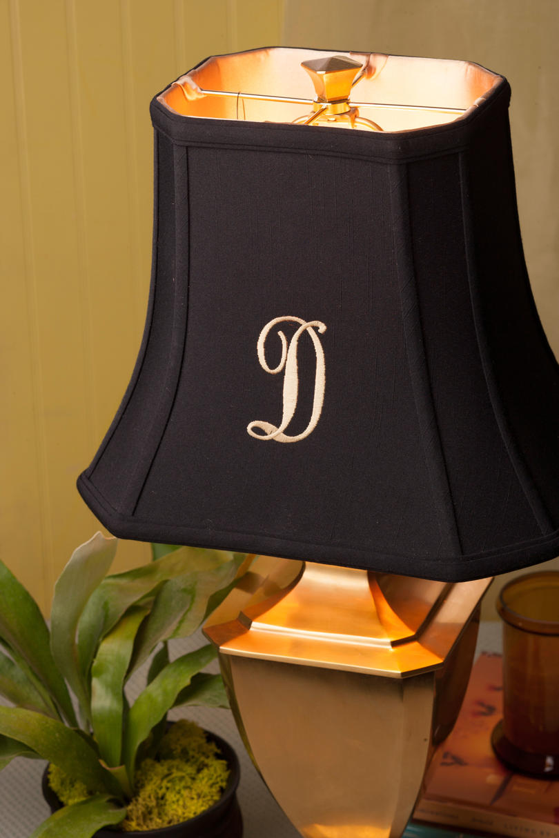 Monogrammed Lampshades