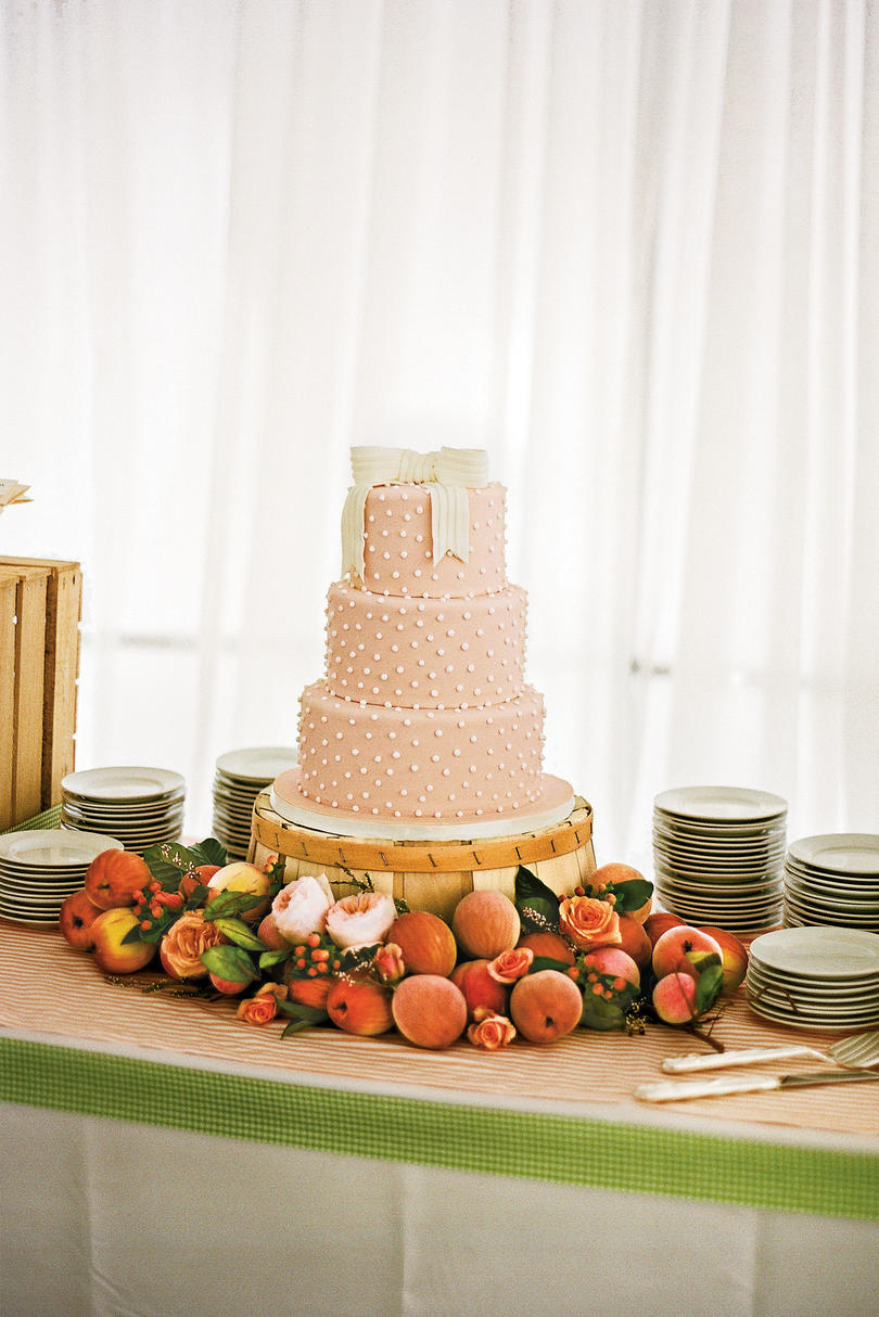 Just Peachy  Wedding Cake