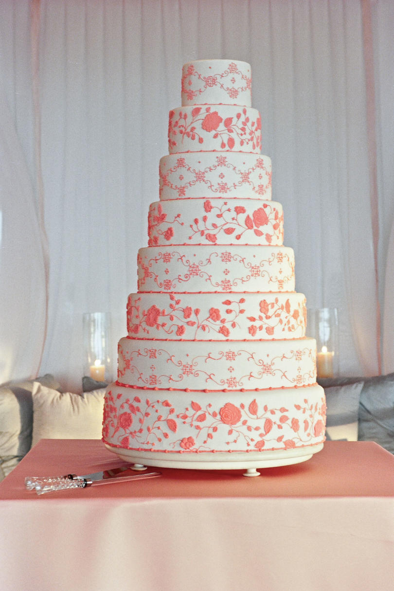 Eight-Tier Wedding Cake