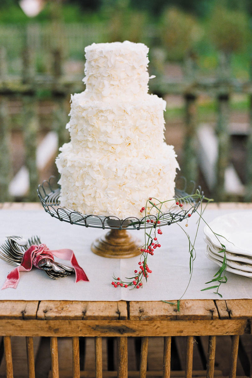 coconut wedding cake pictures white wedding cakes southern living 12892