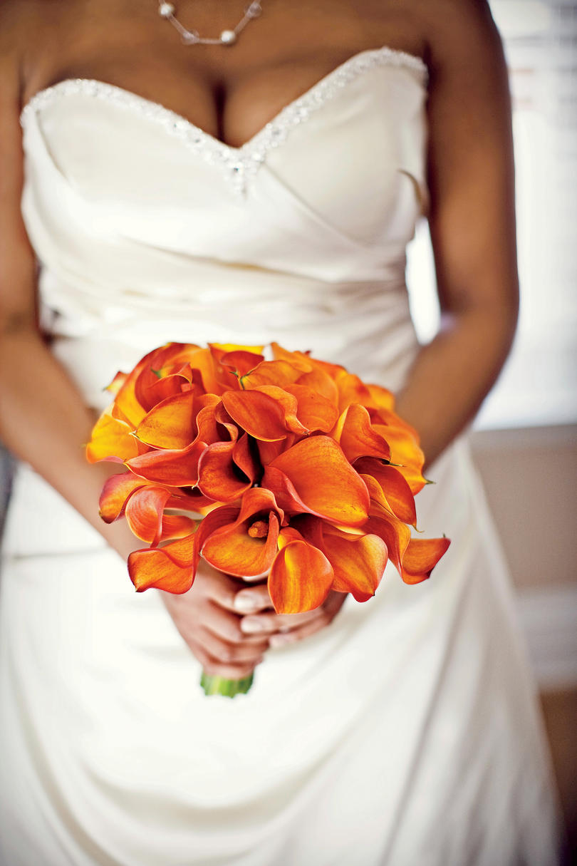 Orange Calla Lily Bouquet