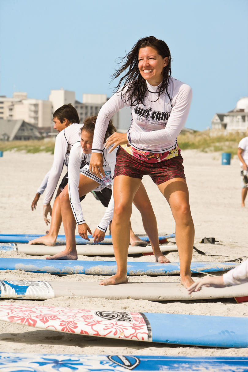 Amy Bickers at WB Surf Camp