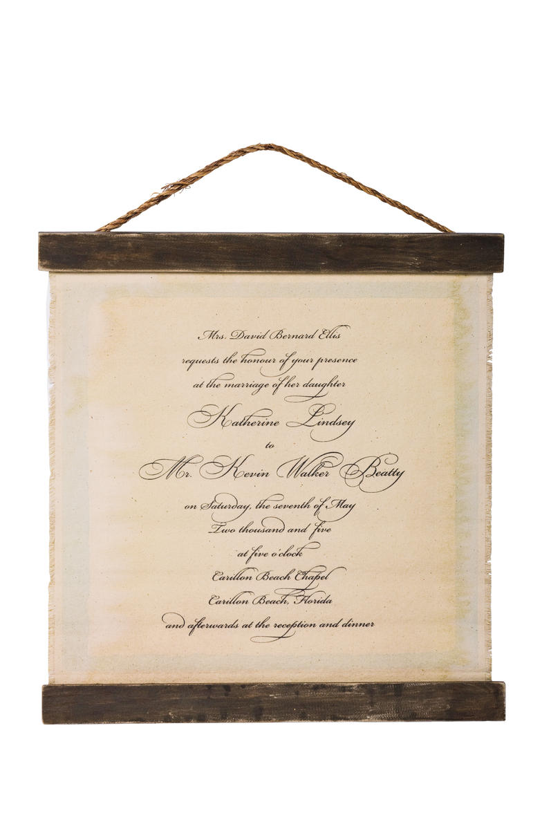 Wedding Gift Ideas: Custom Wedding Invitation Chart