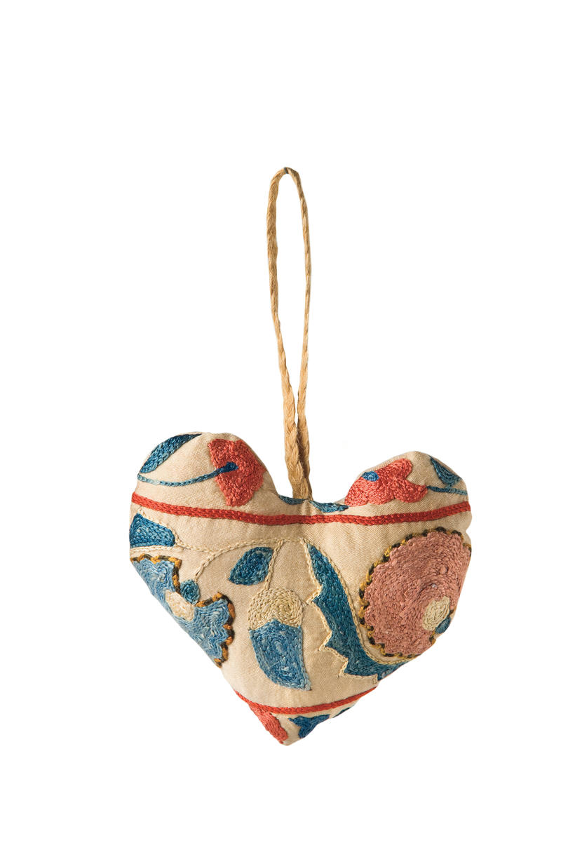 Suzani Heart Ornaments