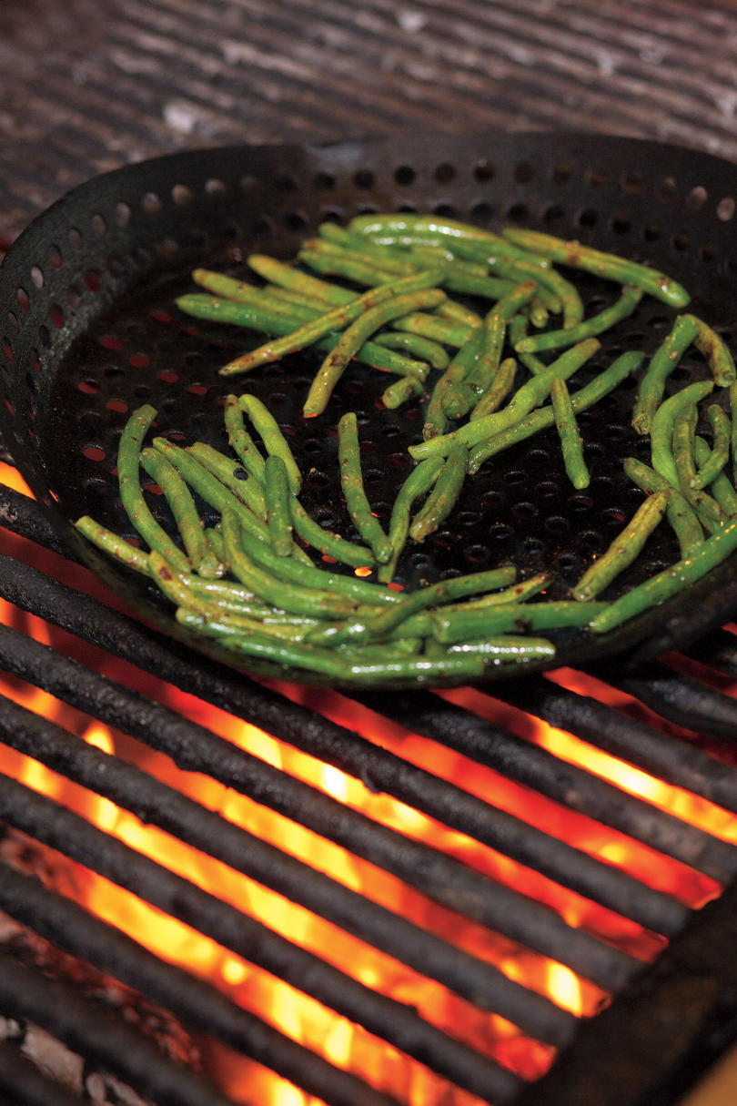 Wood-Grilled Green Beans