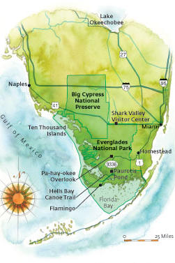 Florida Everglades: Map