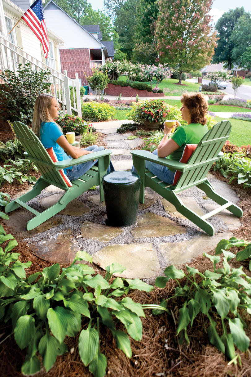 4. Surround sitting areas with plants.