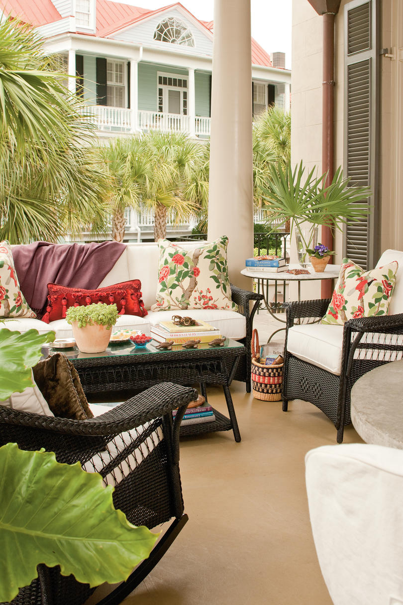 charleston decor. Charleston Home Piazza  Welcome Your Guests Porch Southern Living