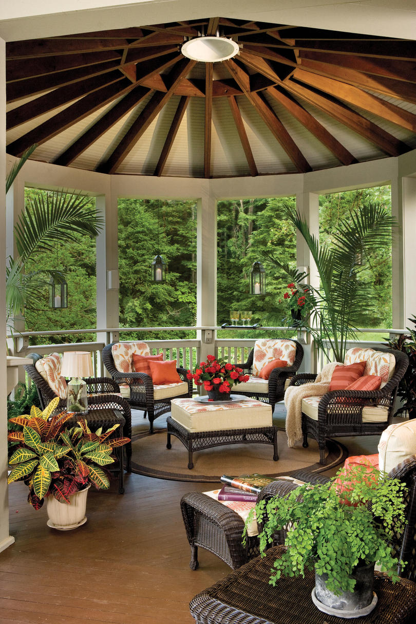 green patio home designs. Appalachian Round Porch and Patio Design Inspiration  Southern Living