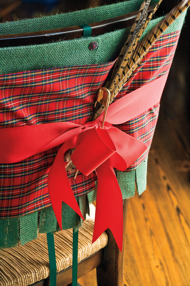 Christmas Decorating Ideas: Tartan Chair