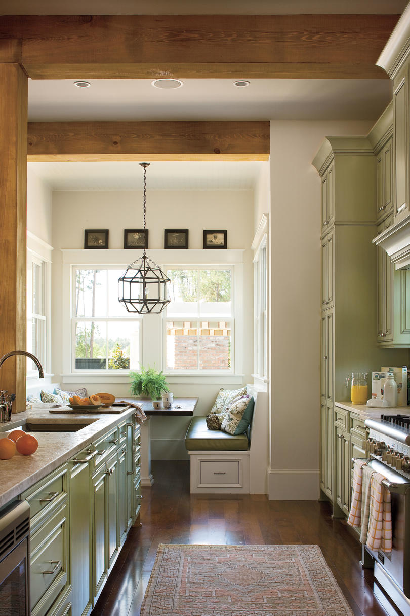 Idea house kitchen design ideas southern living for House plans with galley kitchen