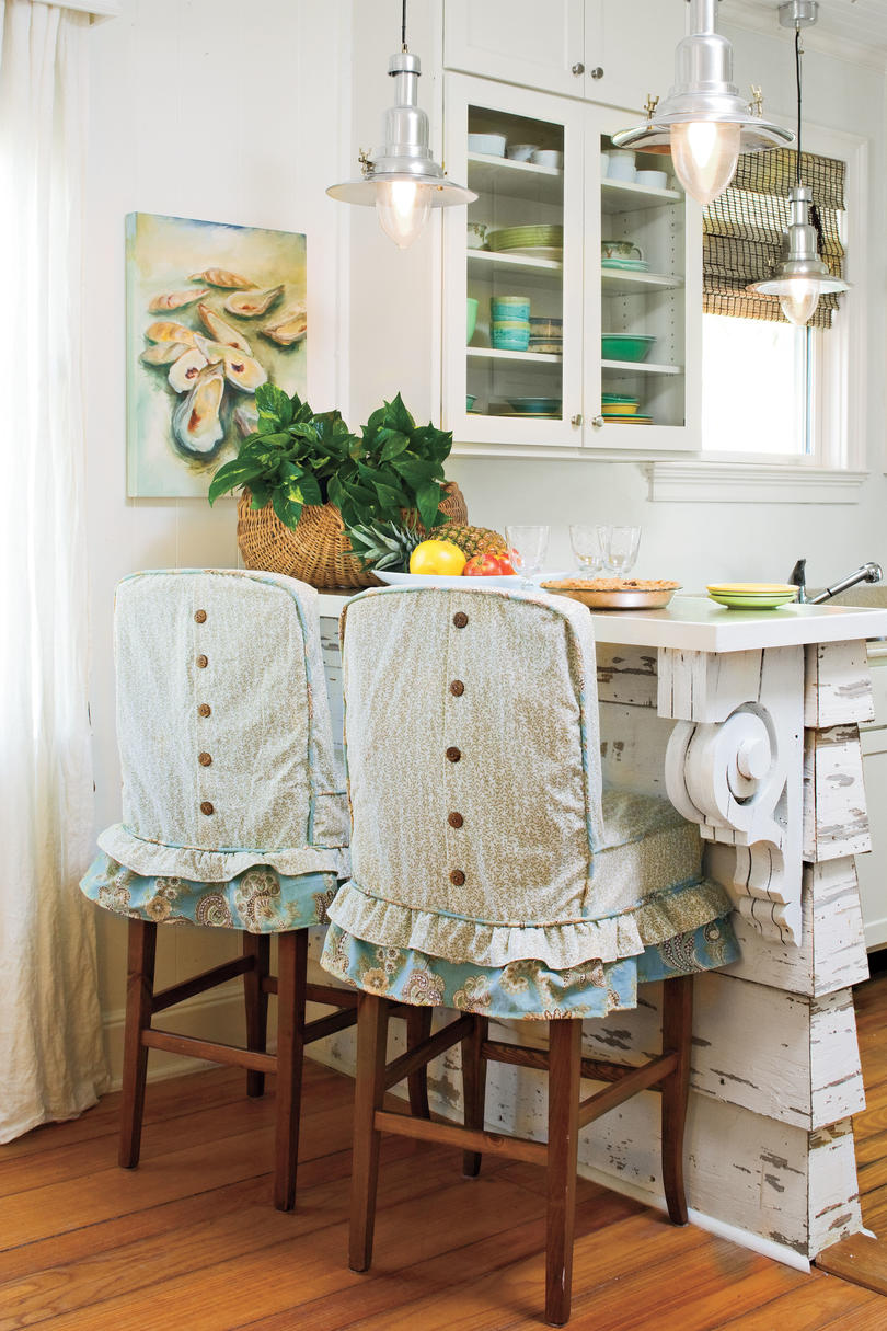 Slipcovered Barstools