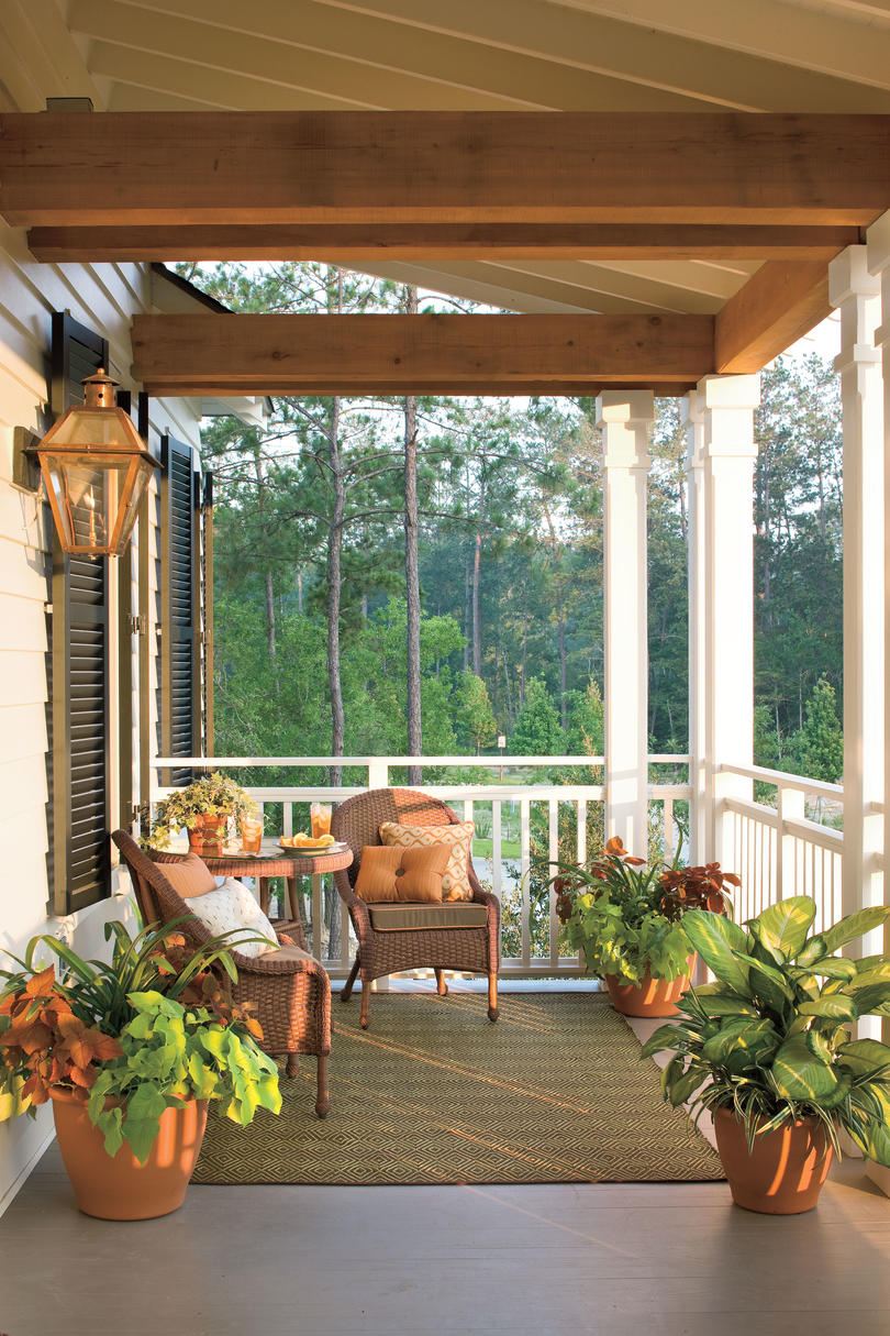 Porch and patio design inspiration southern living for Covered front porch