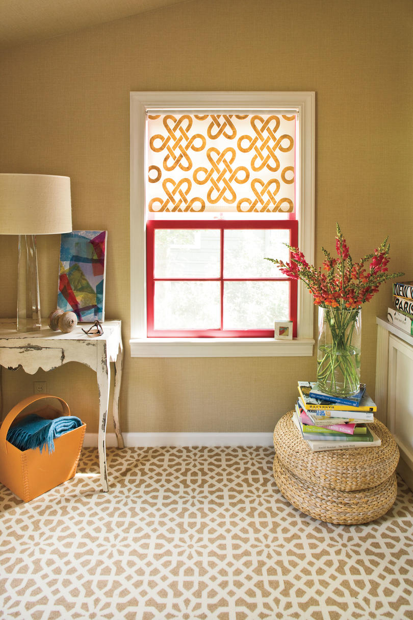 Window Designs Stenciled Shade Southern Living