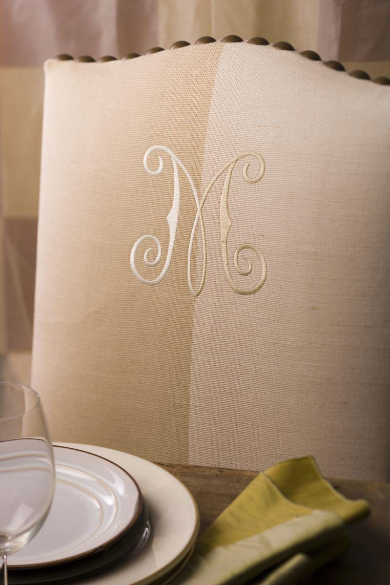 decorate with monograms