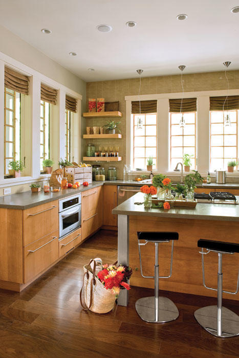 Wonderful Kitchen Without Upper Cabinets