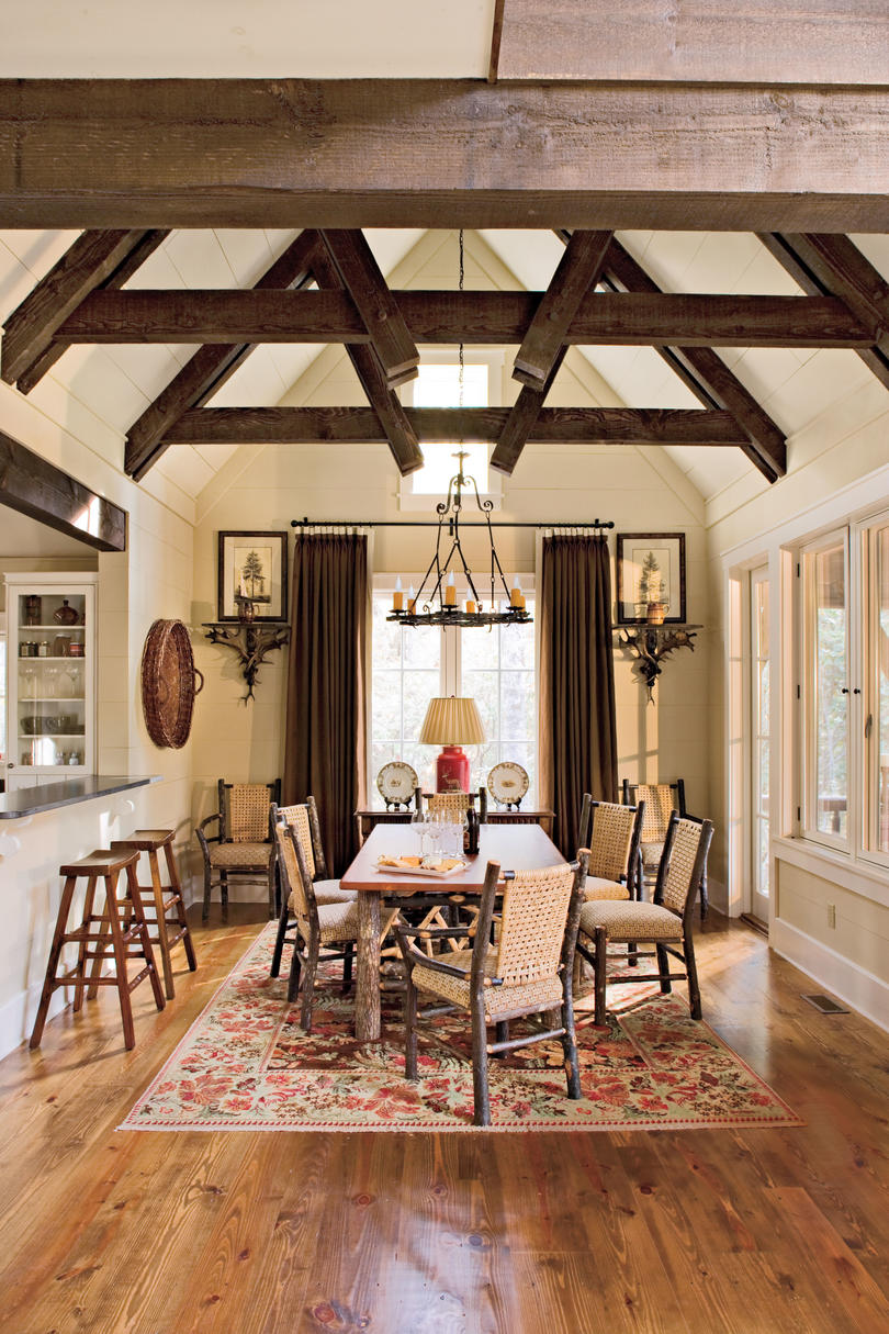 North carolina cottage interiors dining room