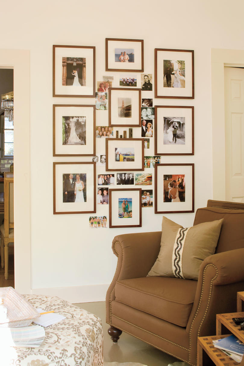 a living room redo with a personal touch decorating ideas living room decorating ideas family photo collage