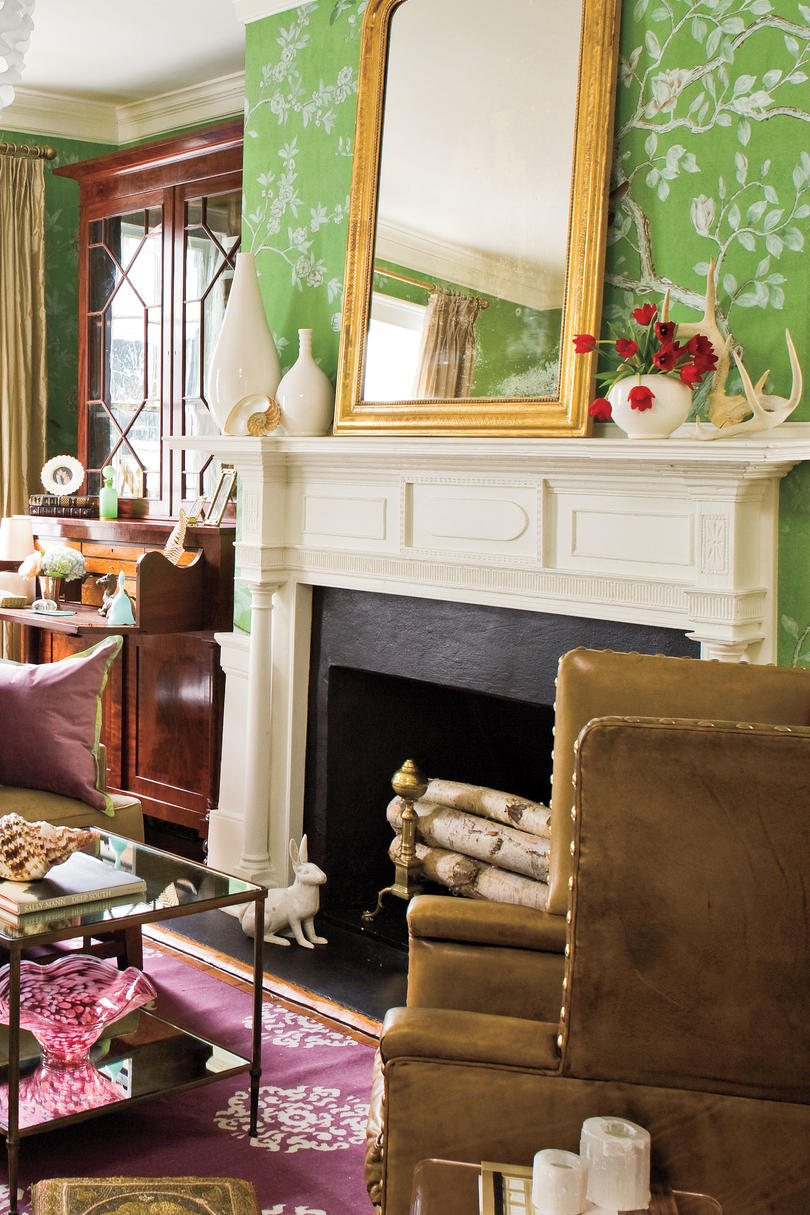 patriotic room fireplace mantel designs | 25 Cozy Ideas for Fireplace Mantels - Southern Living