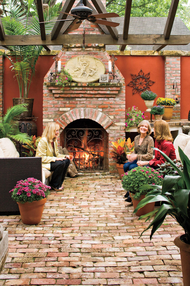 Vintage Brick Patio