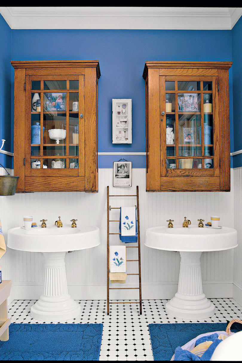 Antique Coastal Bathroom