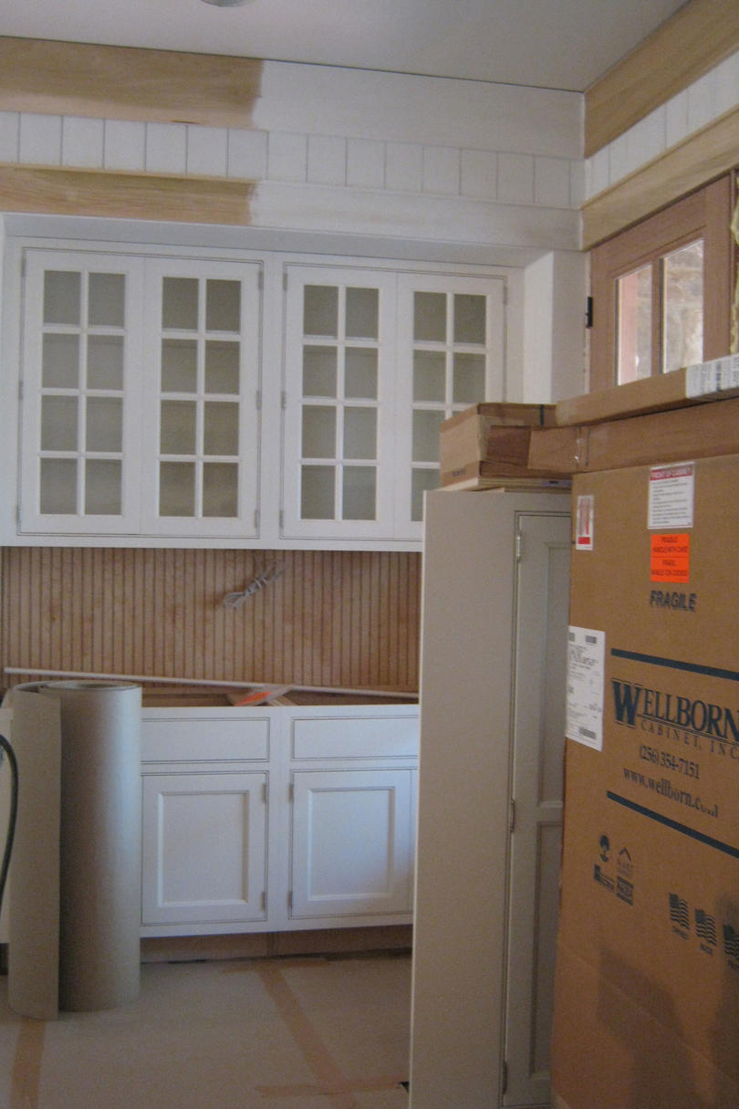 Idea House Construction Kitchen Cabinets