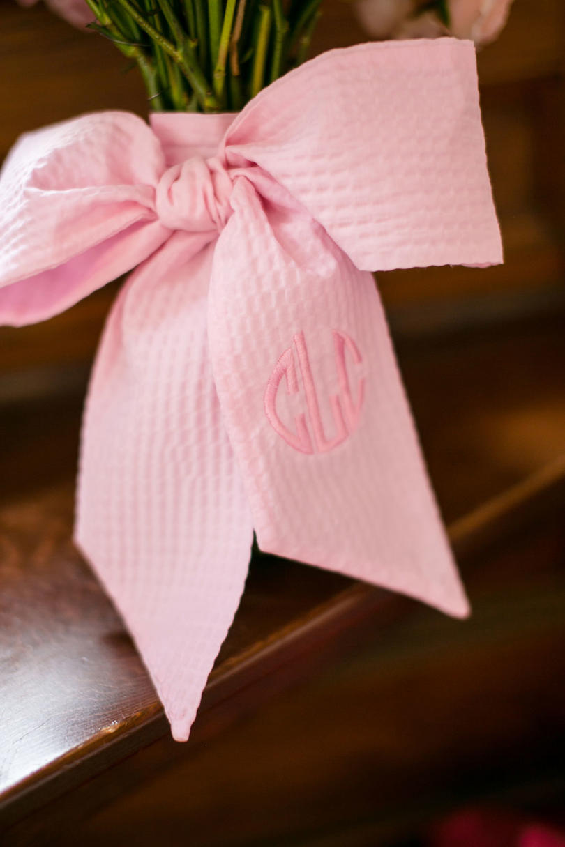 Monogrammed Bouquet Wrap