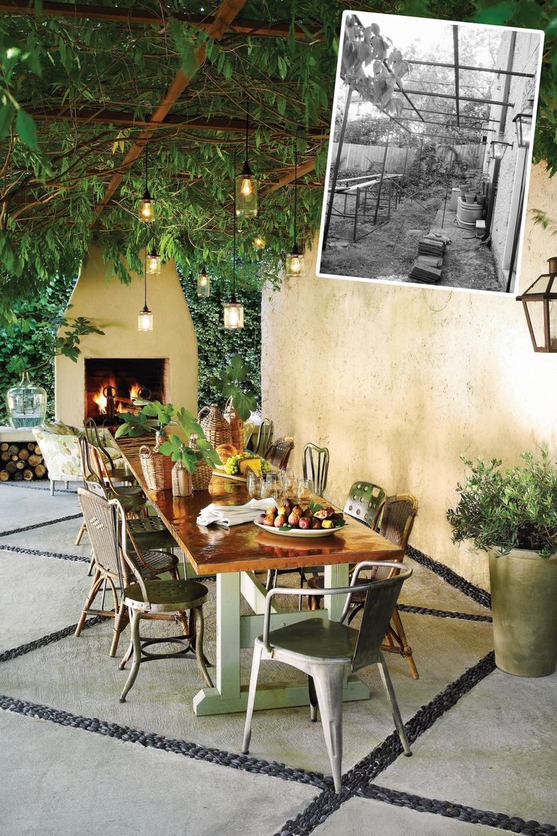 Inviting Patio Before and After