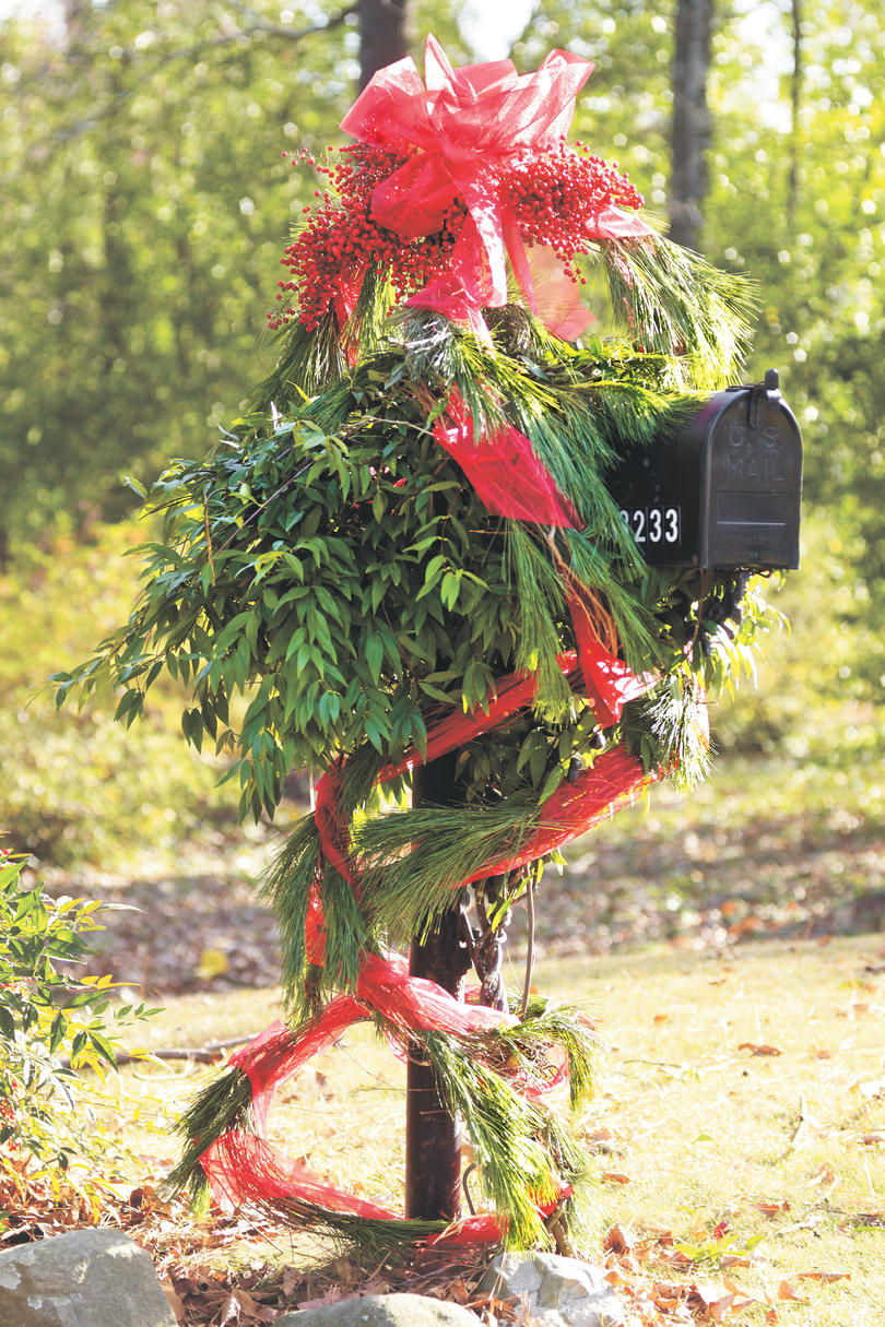 Christmas Decorating Ideas: Mailbox Decoration