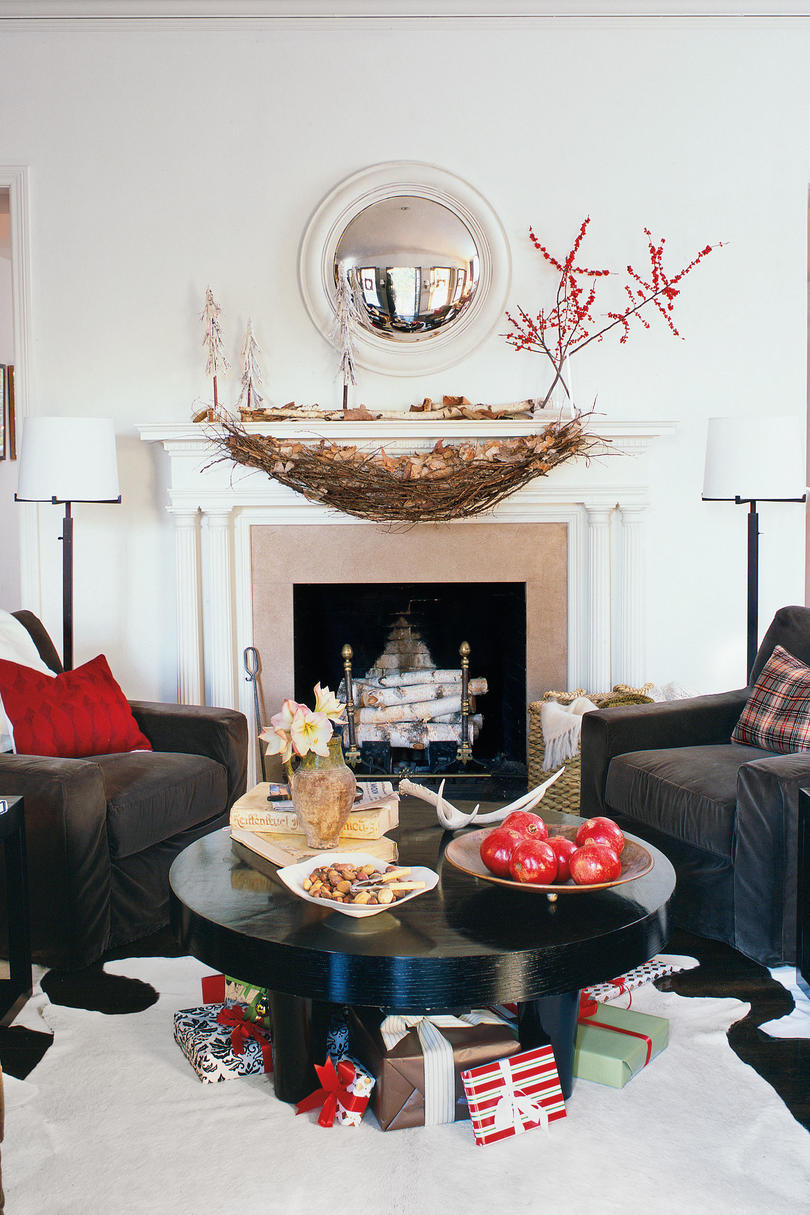 christmas decorating ideas mantel swag