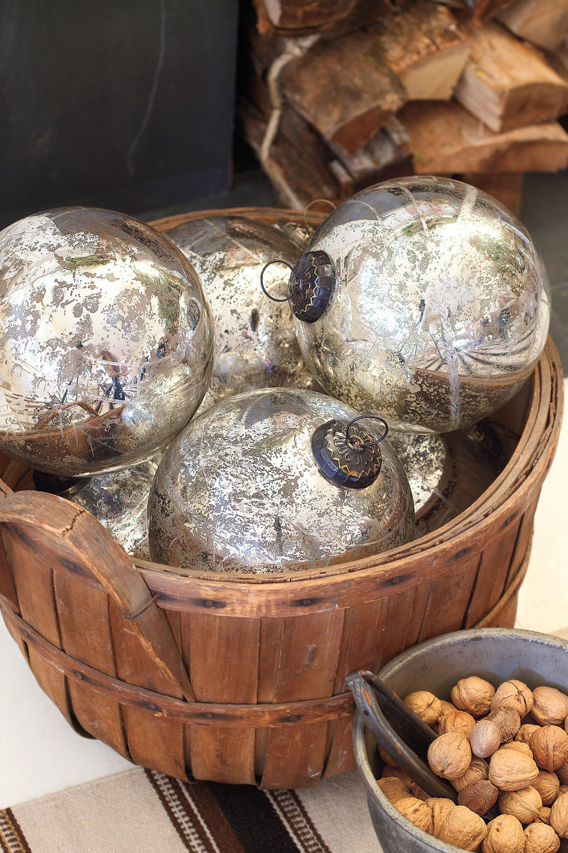 Christmas Decorating Ideas: Mercury Glass Balls