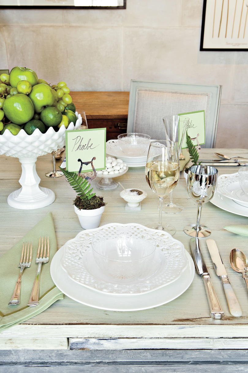 Layer China and Glass  sc 1 st  Southern Living & How To Set a Stunning Table - Southern Living