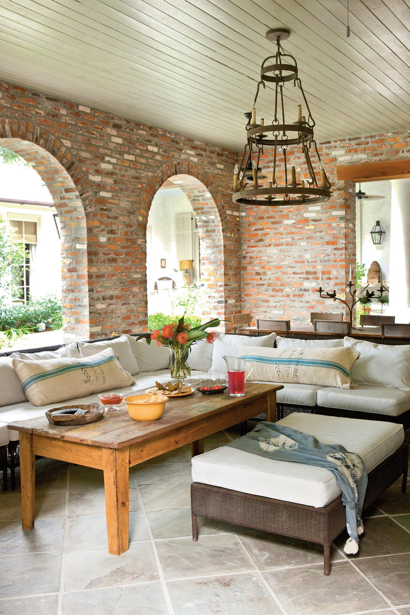 Calm  Classic Outdoor Living Room. Fall s Best Outdoor Rooms   Southern Living