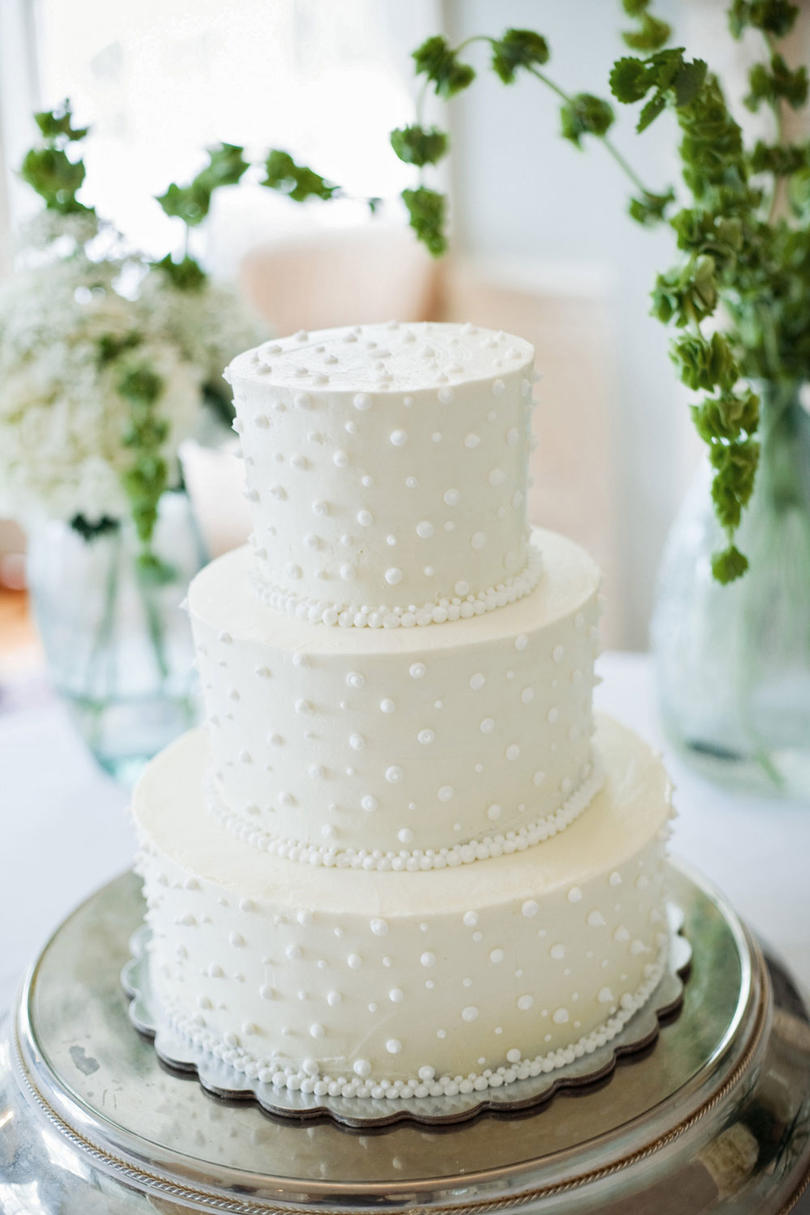 Swiss Dot Wedding Cake