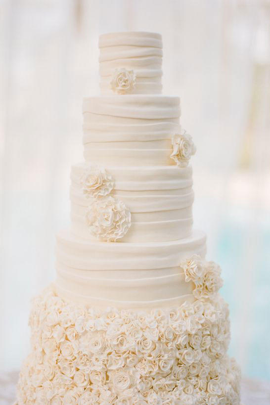 Tall and Ruffled Cake