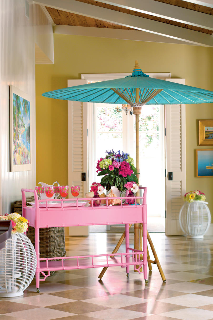 Pretty in Pink Bar Cart