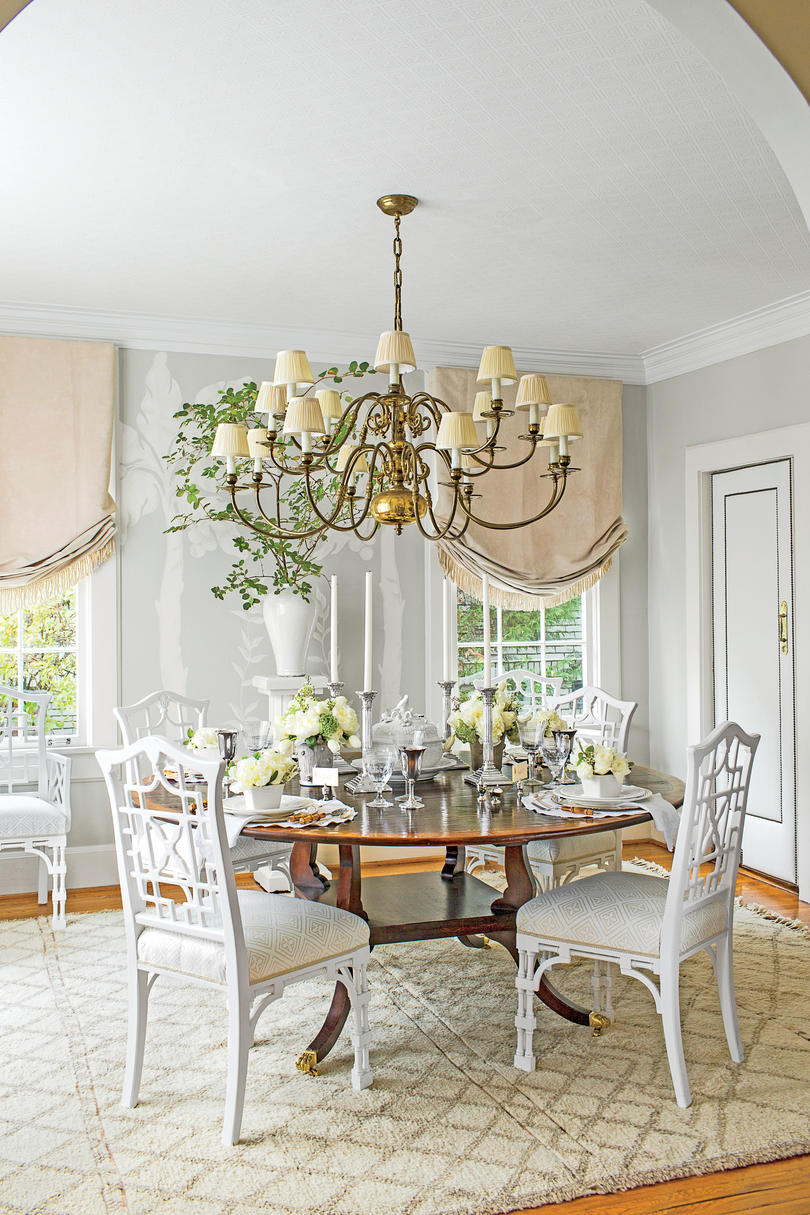 Serene White Dining Room - Southern Living
