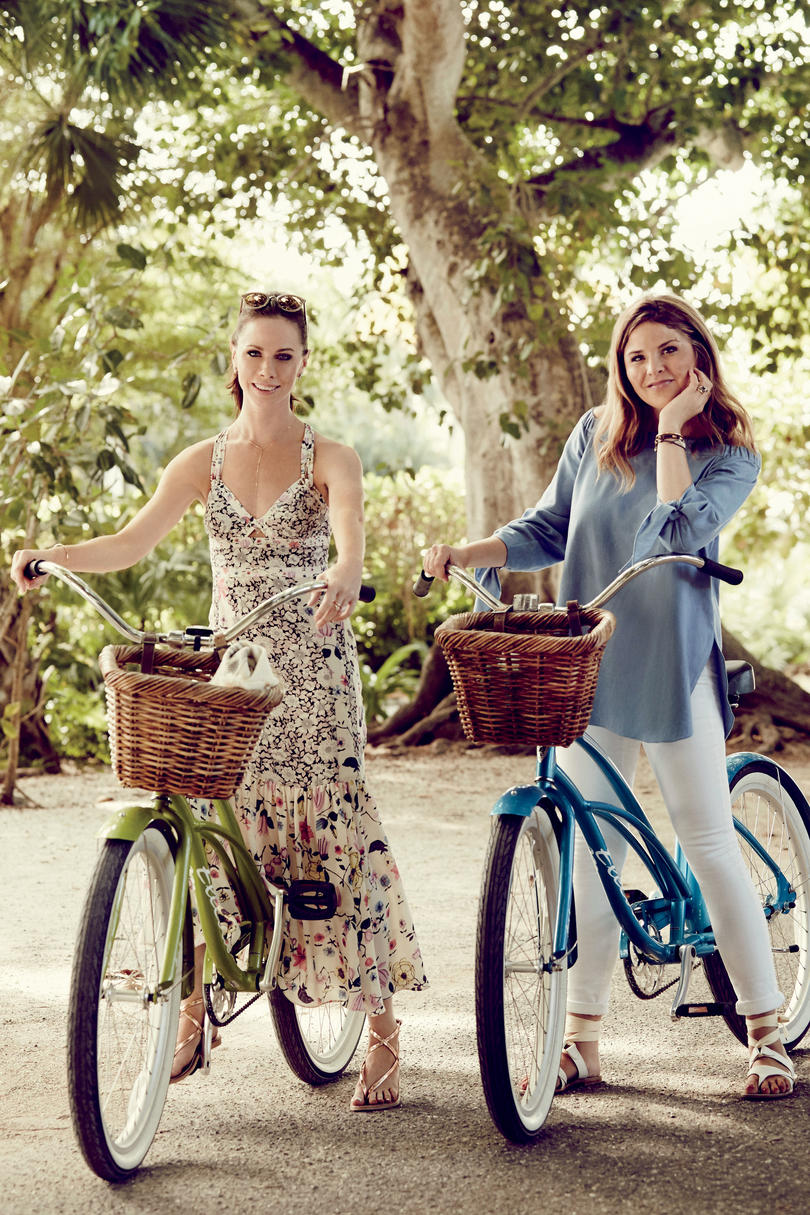 Jenna Bush Hager and Barbara Bush on Bikes