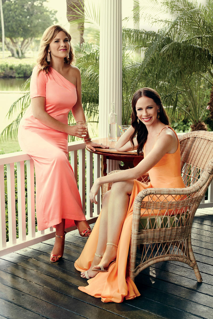 Jenna and Barbara Bush on Front Porch