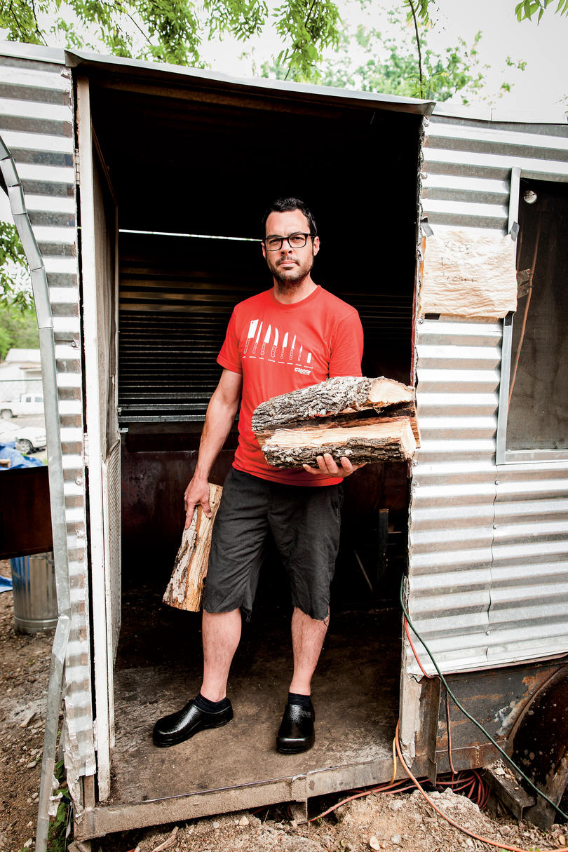 Aaron Franklin of Franklin Barbecue in Austin, Texas