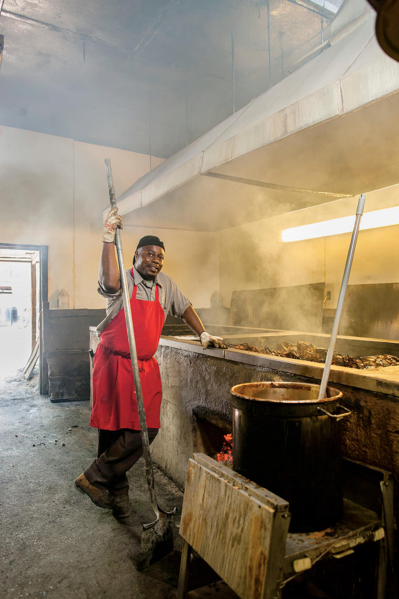 Rodney Scott of Scott's Bar-B-Que in Hemingway, South Carolina