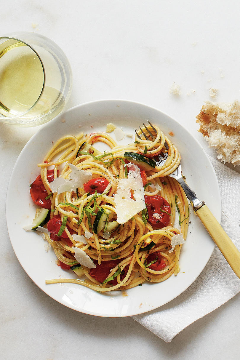 Burst Tomato and Herb Spaghetti Recipe