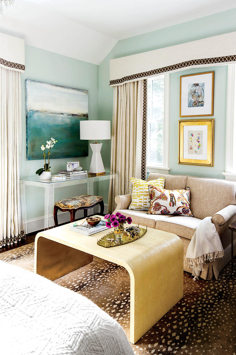 Calming Colors Bedroom Seating Area