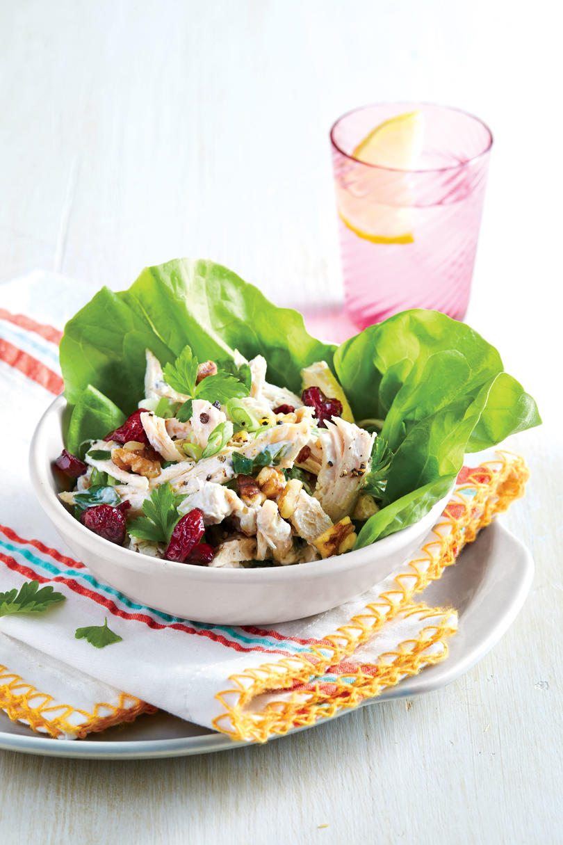 Healthy and light southern classic recipes southern living chicken salad in lettuce cups forumfinder Gallery